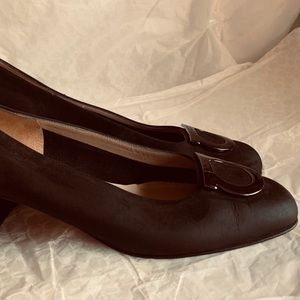 Salvatore Ferragamo Nubuck Suede Horsebit Shoes